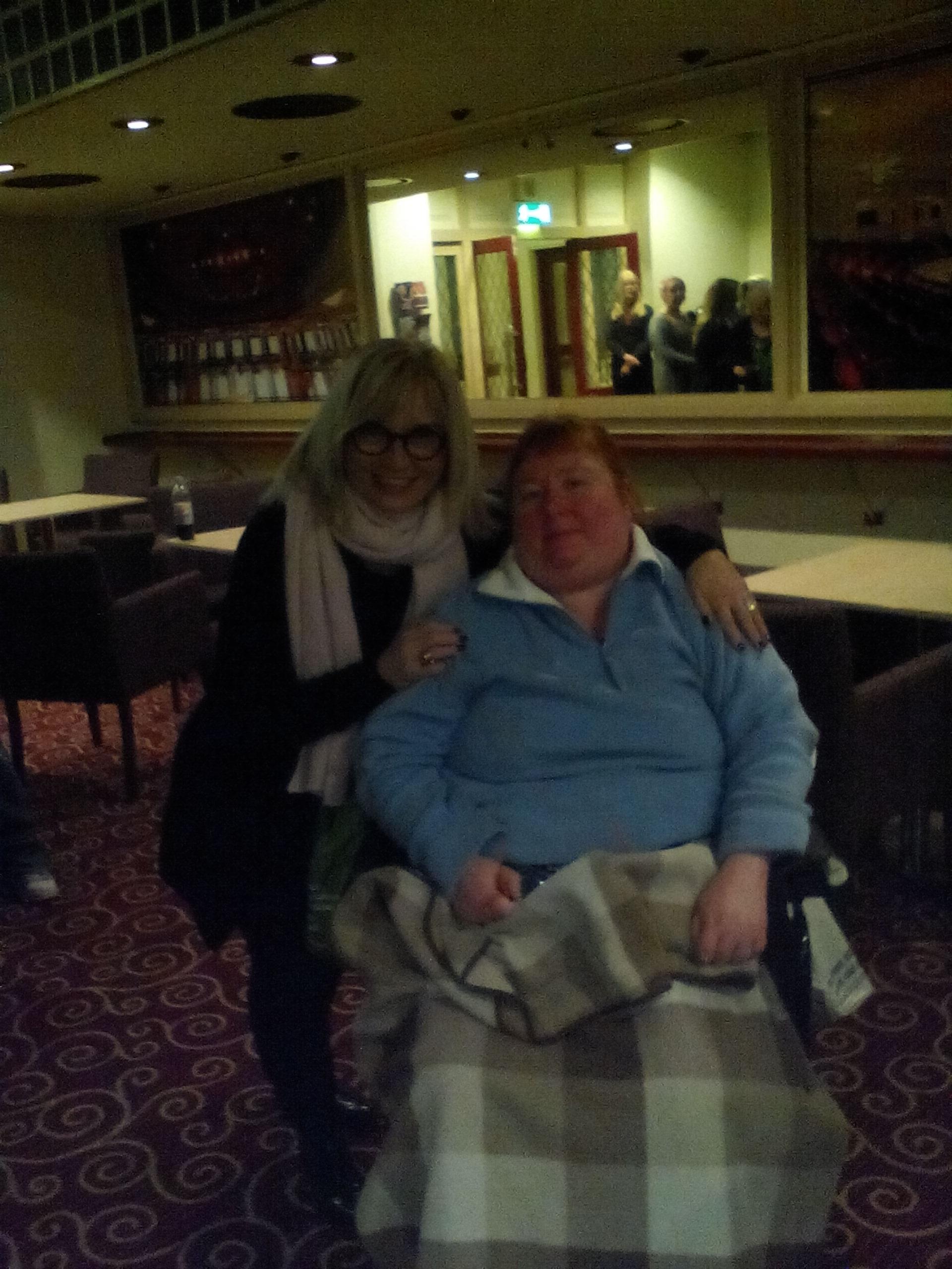Me and Sally Morgan